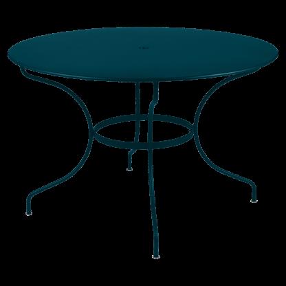Opéra+ round table, 117 cm diameter in Acapulco Blue