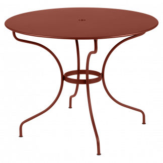 Opéra+ round table, 96 cm diameter in Red Ochre