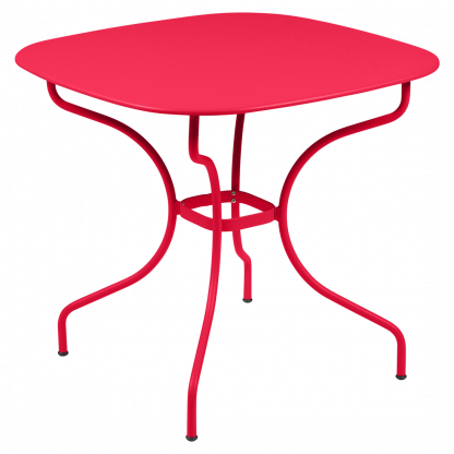 Opéra+ rounded square table, 82 cm by 82 cm, in Pink Praline