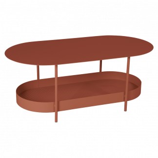Salsa side table in Red Ochre