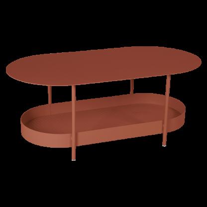 Salsa side table in Red Ochre