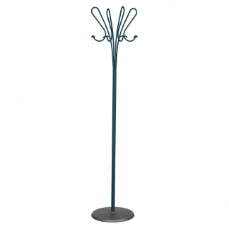 Accroche Coeurs coat and hat stand in Acapulco Blue
