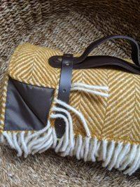 Vintage Mustard picnic blanket